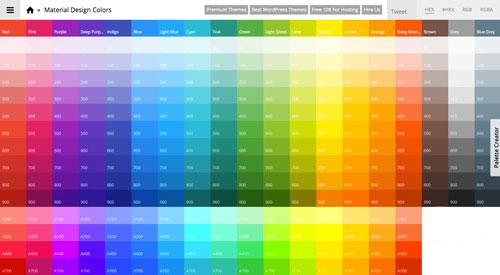 Generadores de colores para material design - Paleta cromatica de colores ...