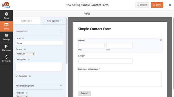 como-crear-un-formulario-de-contacto-con-wpforms-EditarSimpleContactForm