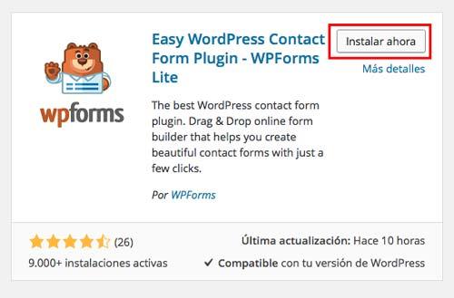 como-crear-un-formulario-de-contacto-con-wpforms-InstalarAhora