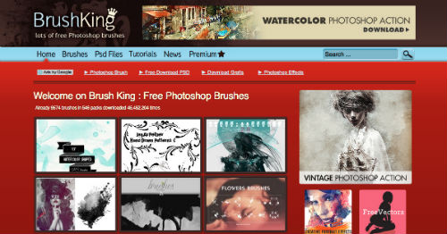 listado-sitios-web-encontrar-pinceles-photoshop-BrushKing
