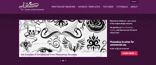 listado-sitios-web-encontrar-pinceles-photoshop-InObscuro