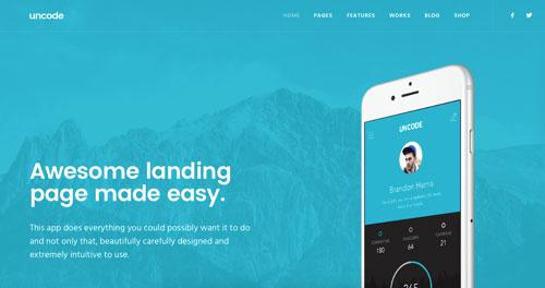 temas-wordpress-paginas-de-aterrizaje-aplicaciones-moviles-uncode