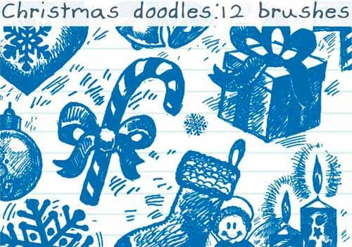 pinceles-navidenos-para-photoshop-forma-gratuita-christmasdoodles