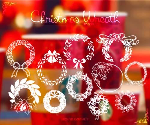 pinceles-navidenos-para-photoshop-forma-gratuita-christmaswreath