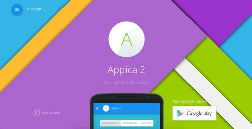 temas-wordpress-de-pago-uso-material-design-appica