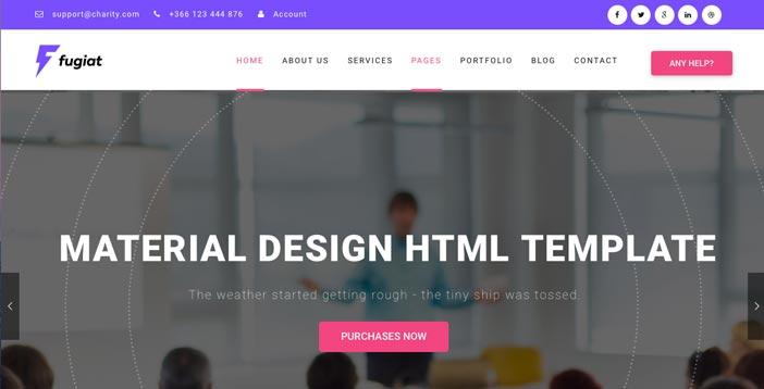 Temas Wordpress de pago que hacen uso del Material Design