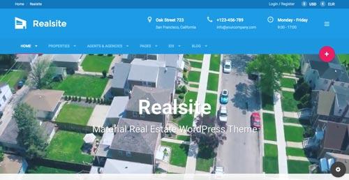temas-wordpress-de-pago-uso-material-design-realsite
