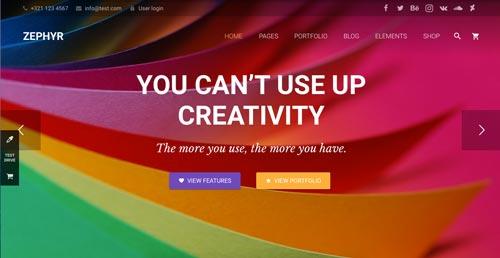 temas-wordpress-de-pago-uso-material-design-zephyr